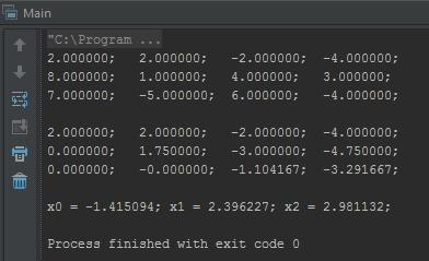 Метод Гауса на Java