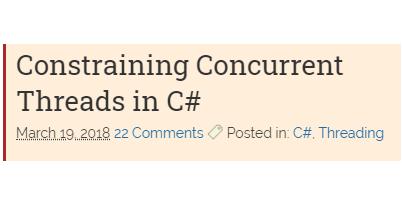 Обмеження одночасних потоків в C#